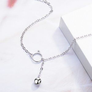 *NEW 925 Sterling Silver Cat Bell Bracelet